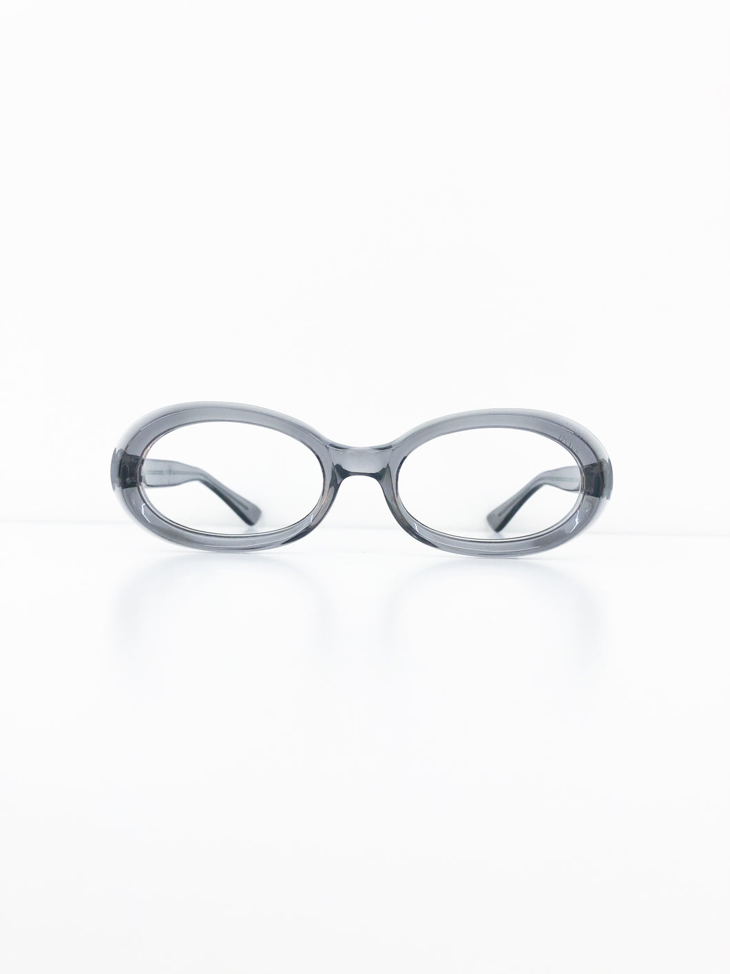 FRENCH VINTAGE / Clear glasses (GRAY) #FV46