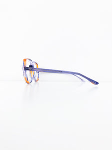 FRENCH VINTAGE / Clear glasses (ORAGE PURPLE) #FV19