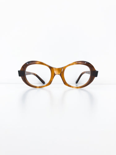 FRENCH VINTAGE / Clear glasses (BROWN) #FV29
