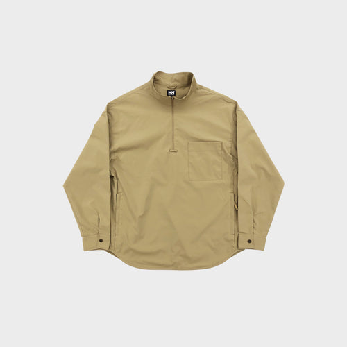 HH / HELLY HANSEN NATURE FITNESS / SKYRIM HALF ZIP SHIRTS (TAN)