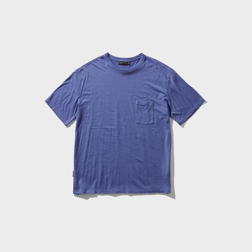 icebreaker / M NATURE DYE SS POCKET CREW (BLUEBERRY)