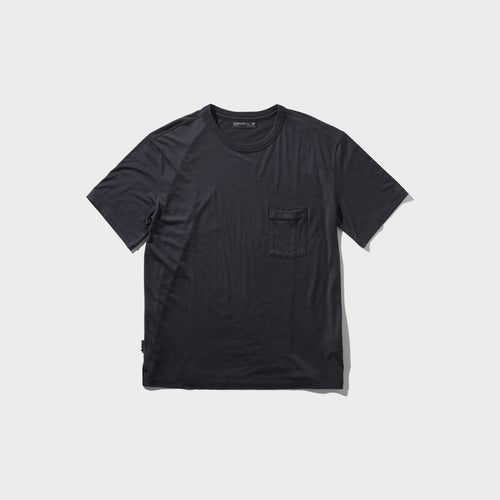 icebreaker / M TECH LITE SS POCKET CREW (DEEP MIDNIGHT)