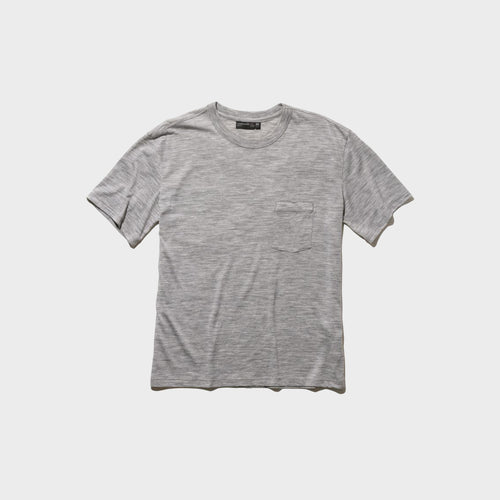 icebreaker / M TECH LITE SS POCKET CREW (METRO HEATHER)