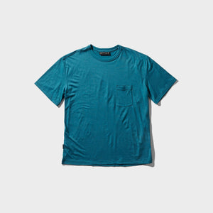 icebreaker / M TECH LITE SS POCKET CREW (KING FISHER)