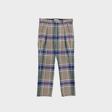 JieDa / CHECK TUCK SLACKS (BEIGE)