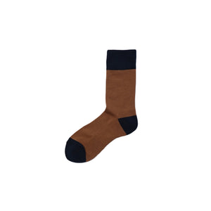 CHICSTOCKS / TWO TONE SOCKS(KHAKI BROWN × D.NAVY)