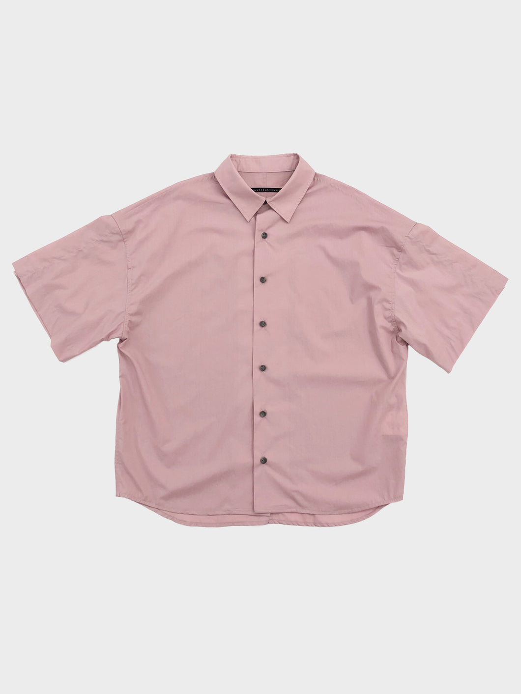 my beautiful landlet /  LOOSE DRESS SHORT SLEEVE SHIRT (PINK)