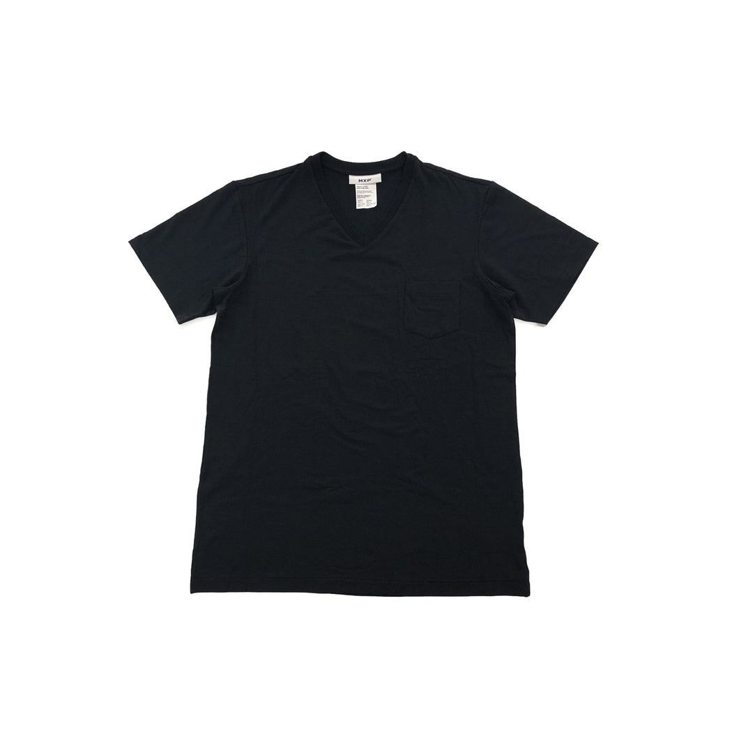 MXP / FINE DRY S/S POCKET V-NECK(BLACK)