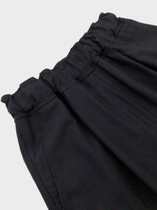 NO CONTROL AIR / SATIN DOUBLE CLOTH TAPERED PANTS (BLACK)