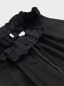 FIRMUM / ROUGH COTTON SHEETING SHIRT (BLACK DYED)