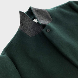 NO CONTROL AIR / MELTON CHESTER COAT (BOTTLE GREEN)