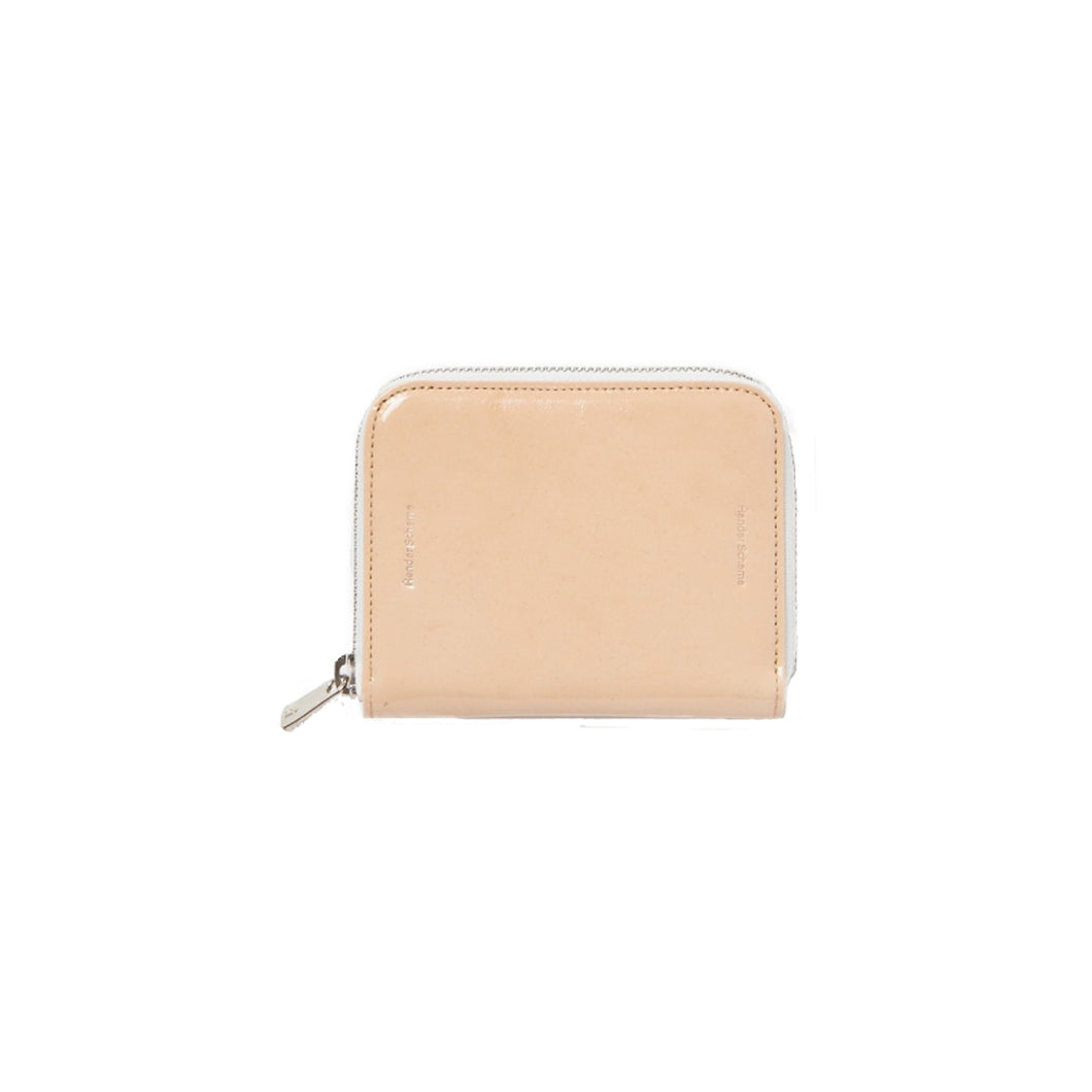 Hender Scheme / square zip purse(PATENT NATURAL)