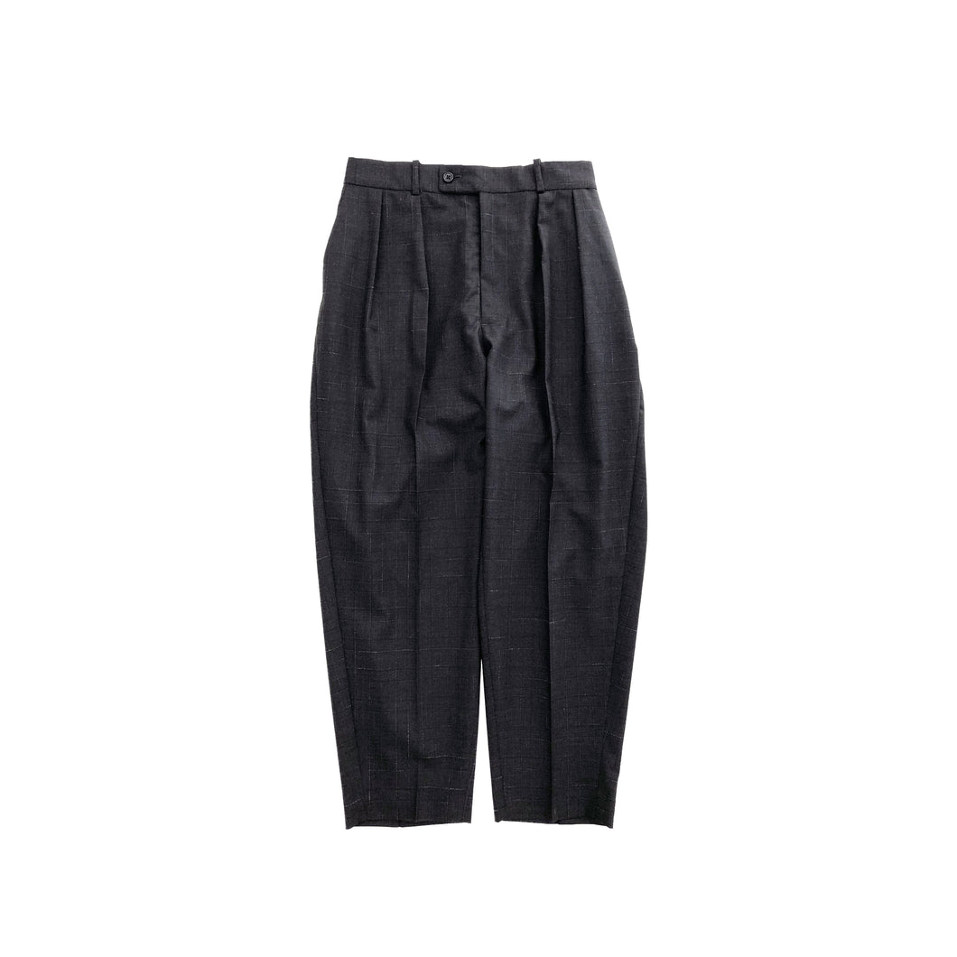RICHFIELD / WOOL WIDE TAPERED EASY TROUSERS (C.GRAY)