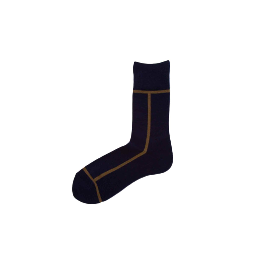 CHICSTOCKS / LINE SOCKS(NAVY × UGUISU)