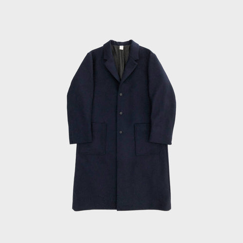NO CONTROL AIR / MELTON CHESTER COAT (NAVY)