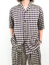 Sasquatchfabrix. / BLOCK CHECK H/S SHIRT (PURPLE CHECK)