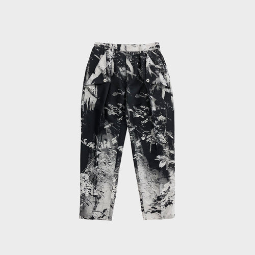 TAAKK / JUNGLE JACQUARD TAPERED TROUSER (BLACK)