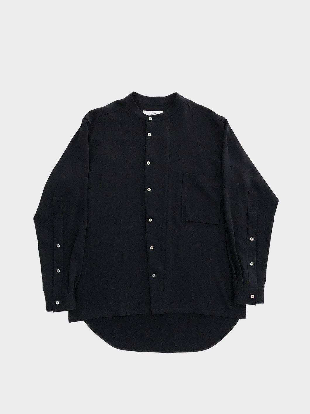 UJOH /BAND COLLAR SHIRT (BLACK)