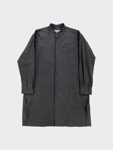 WEWILL / REGULAR COLLAR L/S COTTON SHIRT (BLACK)