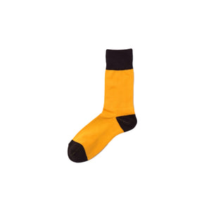 CHICSTOCKS / TWO TONE SOCKS(YELLOW × D.BROWN)