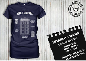 Playera Dr Who Tardis