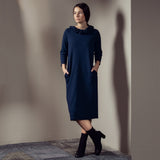 Jersey Dress BARBARA with ribbed collar