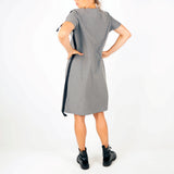 Stright fit knee length dress HELENA in gray