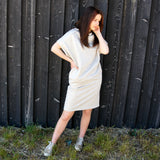 Jersey Sweatshirt Dress IRISS IVORY