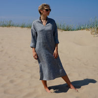 Linen Dress stright silhouette AIJA