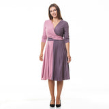 Jersey Wrap Dress DIANA with 3/4 sleeves
