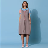 Multicolor Jersey Sweatshirt Dress STINA
