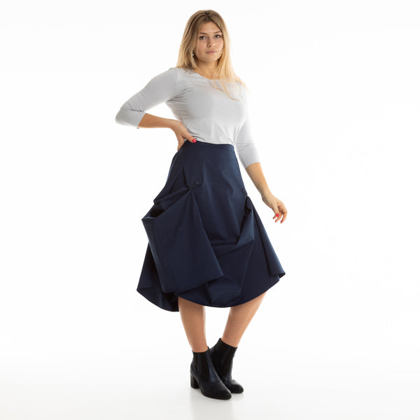DARK BLUE TRANSFORMER skirt