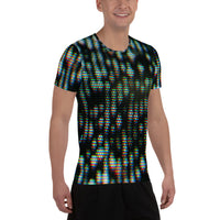 TV NOISE All-Over Print Men's Athletic T-shirt