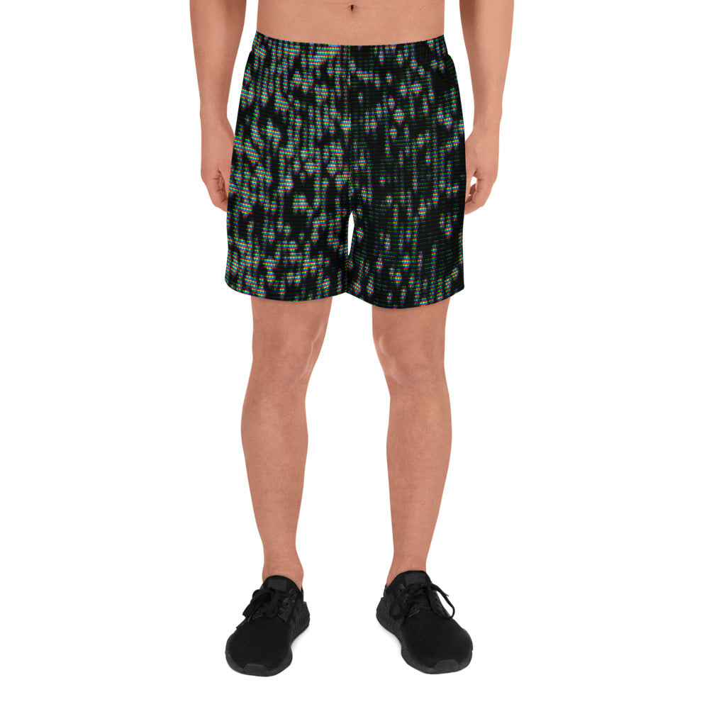 TV NOISE Men's Athletic Long Shorts