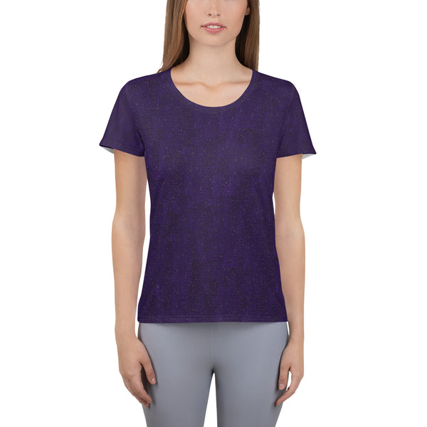All-Over Print Athletic T-shirt DARK PURPLE