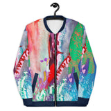 Unisex Bomber Jacket Colorful All-Over Print Bomber Jacket MEDIATION