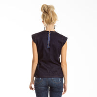 Denim Bodice Top Navy  NIKITA