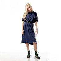 Oversized Jersey Dress with rolled sleeves LUNA