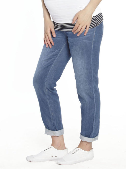 Boyfriend Jeans in Stretchy Cotton