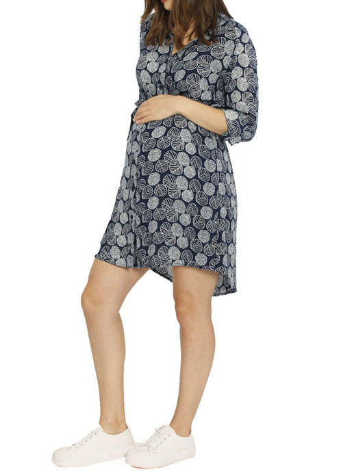 Maternity & Nursing Shirt Dress - Medium only