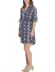 Maternity & Nursing Shirt Dress