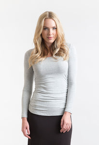 Long Sleeve Ruched Tee