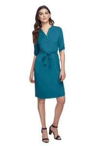 Tab Sleeve Dress