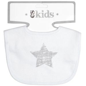"Long Sleeve ""Scribble Star"" Bodysuit Size 000 & Bib"