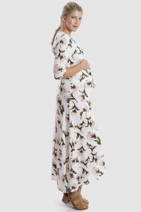Harper Stretch Wrap in White Floral