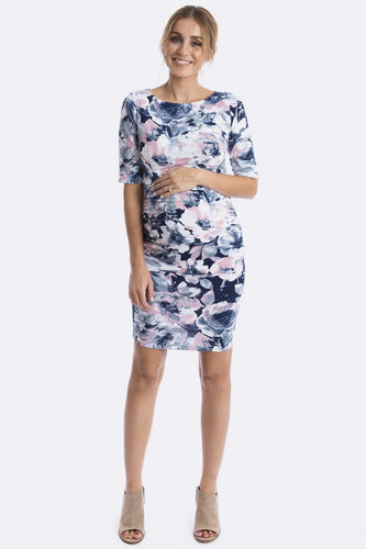 Luella Maternity & Nursing Dress in Aquarelle