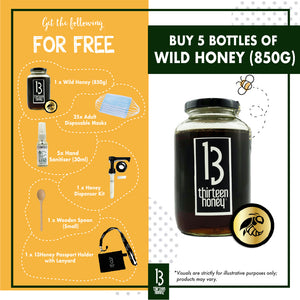 CCB Care Package 2 - 5 x 850g Wild Honey