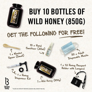 CCB Care Package 3 - 10 x 850g Wild Honey