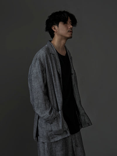 The Linen Blazer - Grey