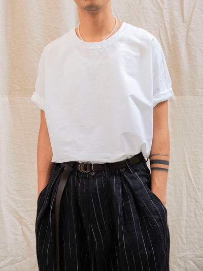 The Pleat Pants - Black Stripe